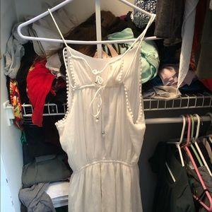 White Abercrombie dress xs
